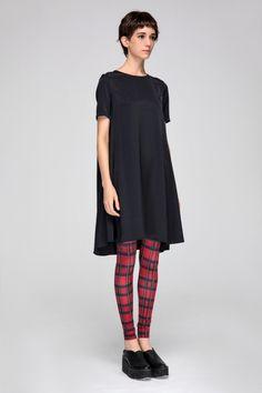 Bamboo fiber dress with printed leggings
