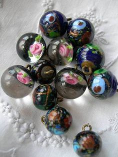 12 3 Sets of 4 Antique 19th Century Paperweight Buttons | eBay