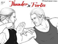 Thunder and Fortis by thortheavengergod.deviantart.com on @DeviantArt