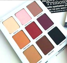 Here's a closer look at our new Meet Matt(e)Trimony eyeshadow palette! The palette features  9 buttery matte shades that complement any occasion!