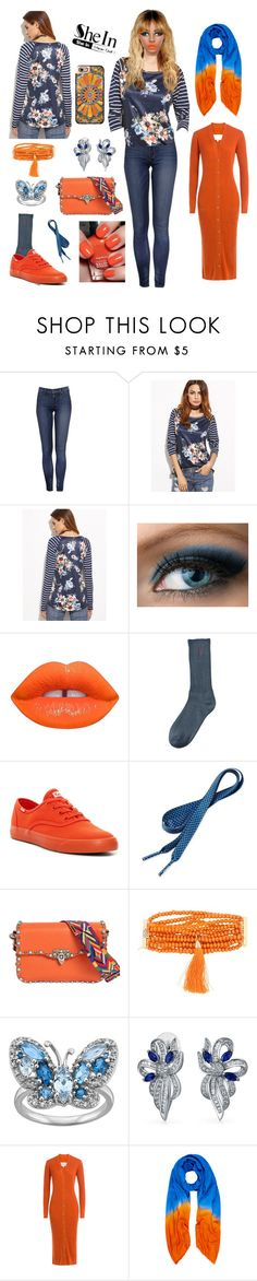 """Year Round Orange & Blue"" by pinky-dee ❤ liked on Polyvore featuring Emma Watson, Lime Crime, Polo Ralph Lauren, Keds, Valentino, Rosantica, Bling Jewelry, Maison Margiela, Allegra London and Casetify"
