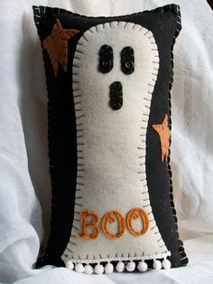 Ghostly Pillow by uneekpillows on Etsy, via Etsy.