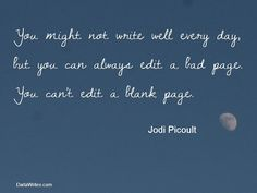 You can't edit a blank page