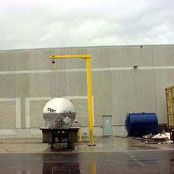 Inverted L-frame Truck Fall Protection