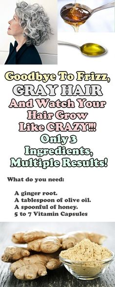 Goodbye To Frizz, Gray Hair And Watch Your Hair Grow Like CRAZY!!! Only 3 Ingredients, Multiple Results!