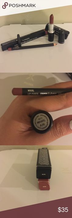 Mac Whirl Lip Bundle Mac Whirl Lipstick (matte finish) and Whirl Lipliner bundle. Both are brand new in box. No trading. Please ask any questions prior to purchasing. Thank you MAC Cosmetics Makeup Lipstick