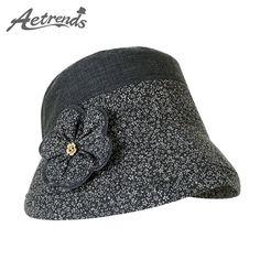 [AETRENDS] 2017 Summer Cotton Bucket Hats for Women Travel Outdoor Beach Hat Sun UV Protection Cap Z-5126