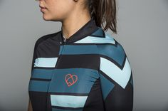 Inclinaison Jersey is our stripe version of a classic pattern with a little  twist. The race cut fit jersey has a lightweight lycra on the sleeves and  front that feels like a second skin. The seamless edge sleeves stay in  place and give you a freedom of motion.    It matches the Black Warsaw Race Bib Short and our Inclinaison Cycling Cap.  Model is 160cm, 48kg, 80cm chest, 88 hips and wears size XS.  • Pro race cut - longer at the back  • Low collar at the front  • Longer sleeve with a…