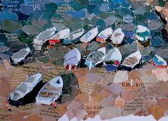 Boats collage -  Kirsty Elson Designs