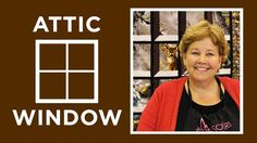 Attic Windows Quilt with a Panel: Easy Quilting Tutorial with Jenny Doan...