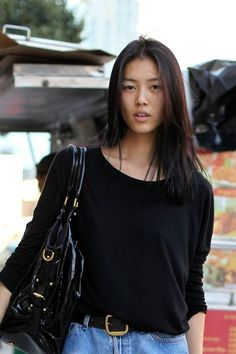 ab916eef555c Gorgeous! liu wen Models Off Duty