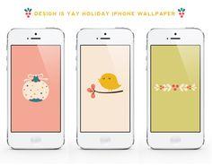 "Free ""Holiday Season"" iPhone Wallpaper | DESIGN IS YAY!"