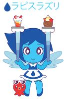 Chibi version of Lapis Lazuli dressed in a maid outfit Lapis (c) rebecca sugar halftone brush- Chibi Meido Lapis Chibi Steven Universe, Maid Outfit, Kawaii Chibi, Itachi, Smurfs, Deviantart, Manga, Gallery, Artist