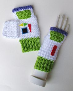 Hey, I found this really awesome Etsy listing at https://www.etsy.com/listing/210279166/toy-story-buzz-lightyear-wristwarmers