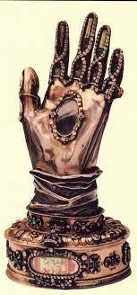 Relicario con la mano de Santa Teresa de Jesús