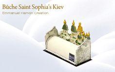 Buche St Sophia Kiev Mousse litchi, crémeux à la fraise, compotée de framboise, biscuit amande /coco Litchi mousse , strawberry creamy ,raspberry compote , almond and coconuts biscuit