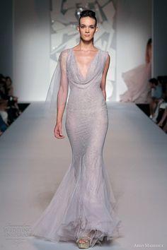 Wedding dress- mermaid gown cowl neck