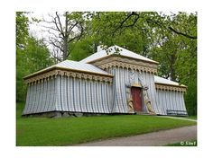 The Guards' Tent. Drottningholm This building used to be the quarters for the dragoons of Gustav III. It was built in 1781 and designed by C.F. Adelcrantz.