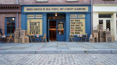 Fighting Back Against Amazon, Indie Bookstores Wage a Cardboard-Wrapped Protest