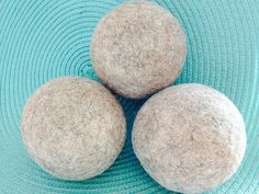 Popular Eco-Friendly 100% Natural Wool Felted Dryer Balls by WindyFleecesWoolery on Etsy https://www.etsy.com/listing/188562992/popular-eco-friendly-100-natural-wool