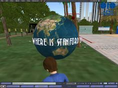 Stanford University island in Second Life 21 Mar 2010