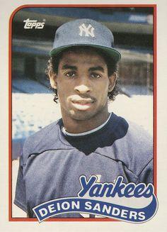 Baseball Card (1989) Deion Sanders // New York...