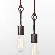 Industrial Spring Pendant Light