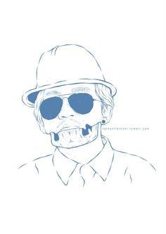 self potrait #skull #illustration