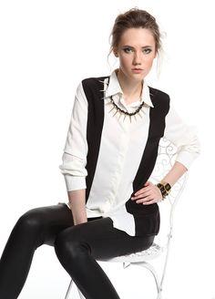 SATEEN Iki renkli şifon gömlek Markafoni'de 59,90 TL yerine 29,99 TL! Satın almak için: http://www.markafoni.com/product/3459225/