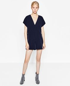 Image 1 of SHORT V-NECK JUMPSUIT from Zara