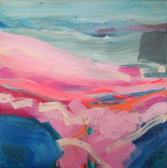 Blue Pond by Sophie Abbott, acrylic on canvas