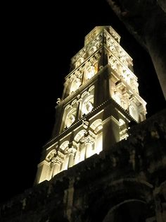 The bell tower of Split's cathedral