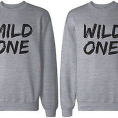 Mild One and Wild One Matching BFF Sweatshirts, BFF Gift for Best Friends