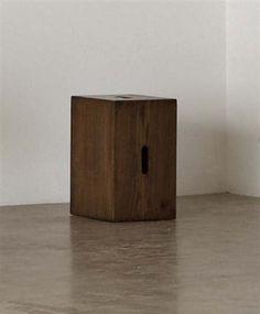 Cube stool, from la Maison du Brésil, Cité Internationale Universitaire de Paris, France,  1956-1959, Literature: Elisabeth Vedrenne, Le Corbusier: Mémoire de Style, Paris, 1998, pp66-67