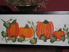 Donna Dewberry One Stroke Pumpkins-used this as inspiration to paint fall welcome signs for neighbors...2013