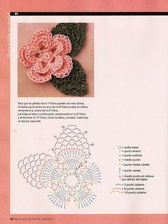 As Receitas de Crochê: Flores em croche