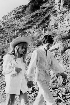 Marianne Faithfull and Mick Jagger - San Remo Italy - January 29 1967
