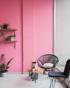 Färgstark rosa vägg, inredningsinspo för ditt vardagsrum, kök, badrum, sovrum m.m.