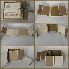 How to make a mini photo album – Artofit Mini Albums, Mini Photo Albums, Mini Album Scrapbook, Scrapbook Paper, Fancy Fold Cards, Folded Cards, Mini Album Tutorial, Baby Album, Album Book