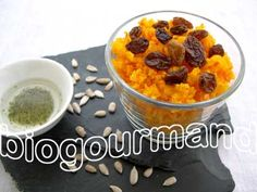 Taboulé de potimarron cru et raisins secs - Biogourmand | Recette végétalienne - Vegan recipe