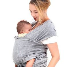 74bc90aadb3 Innoo Tech Baby Sling Carrier Natural Cotton Nursing Baby Wrap Suitable for  Newborns to 35 lbs Breastfeeding Sling Baby Holder Soft Safe and  Comfortable ...