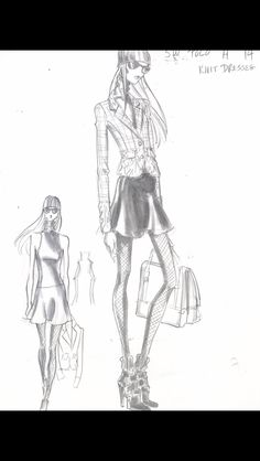 Design Sketch by me for Ralph Lauren POLO Woman Collection Fall 2014