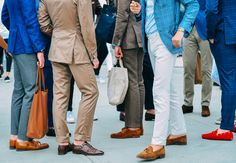 ankle game at its best -- street style from the 2014 Putti Uomo menswear trade show