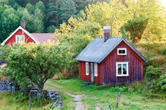 Swedish Country Red Traditional Country Cottage....red cottage