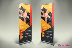 Business Roll Up Banner - v018 by Creatricks on @creativemarket