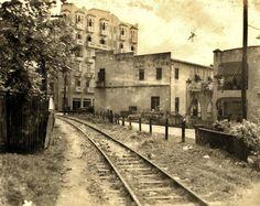 Antigua vía del tren en Río Piedras, Puerto Rico.