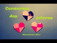 Origami - Papirofexia. Corazón a dos colores