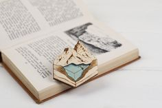 Glacial Lake Brooch/Necklace by kateslittlestore on Etsy