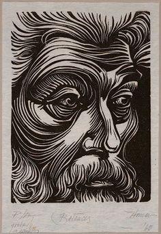 """Betances"" de Lorenzo Homar, artista puertorriqueño - grabado"