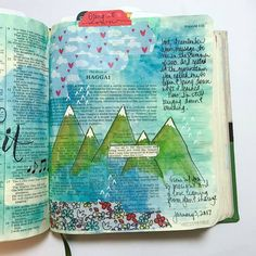 1/7/2017 - Haggai 1:7-8 Psalm 13, 2 Samuel, 1 Chronicles, Lamentations, Illustrated Faith, Old Testament, Bible Art, Journal Art, Bible Journal